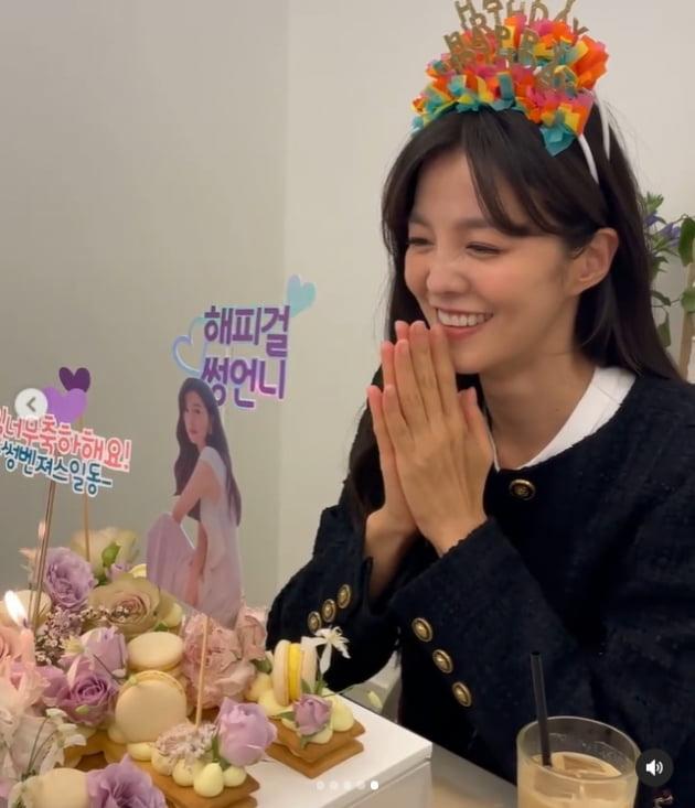 """'정조국♥' 김성은 """"30대 마지막 생일, 아무도 모르게 지나가려 했는데"""" 꽤나 왁자지껄 [TEN★]"""
