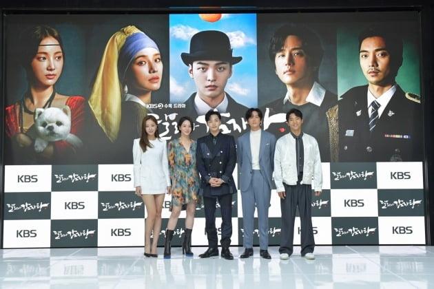 배우 권율(왼쪽부터), 김민재, 박규영, 연우, 황희./사진제공=KBS2 '달리와 감자탕'
