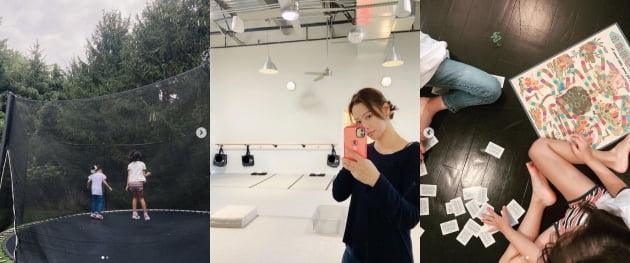 '권상우 ♥' 손태영, 딸 엄마와 아빠 닮아 우월한 기럭지...베프랑 놀이중[TEN★]