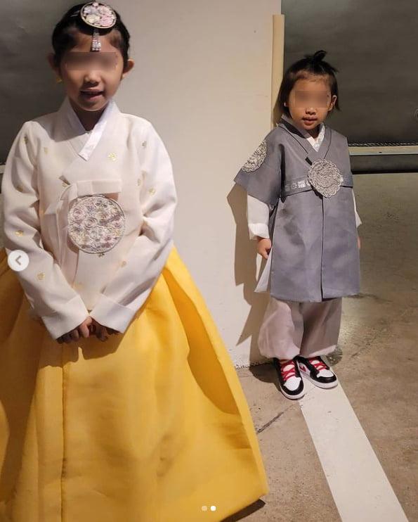 '오지호 아내' 은보아, 남매 고운 한복 사진에 심쿵...해피 추석~[TEN★]