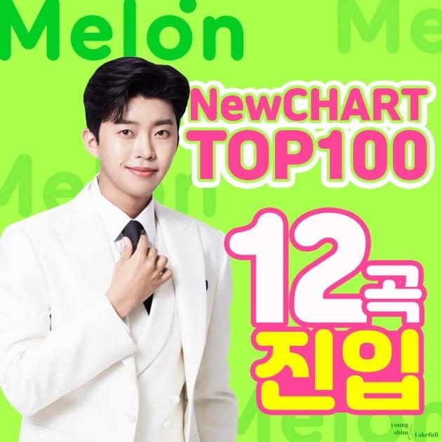 임영웅, 멜론 차트 휩쓸었다…TOP100 12곡 진입 '올킬'