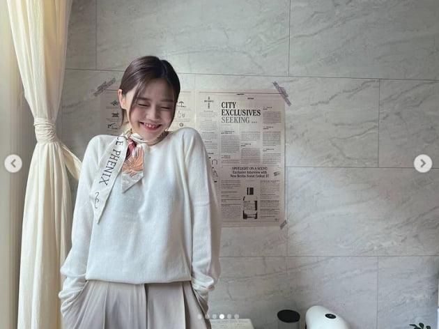 오마이걸 효정, 여친짤의 정석...청순 러블리[TEN★]