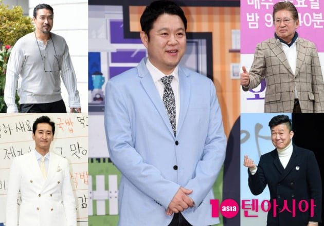 신성우, 신현준, 김구라, 김용건, 홍록기./사진=텐아시아DB