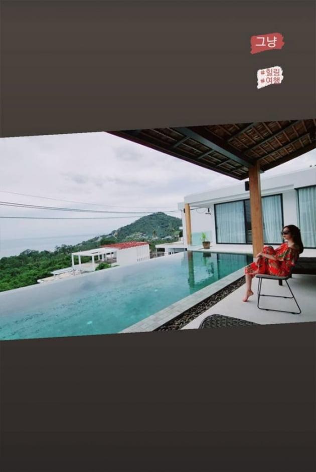 """신주아, '♥태국재벌' 사모님은 휴양도 남달라…풀빌라+비행 """"힐링"""" [TEN★]"""