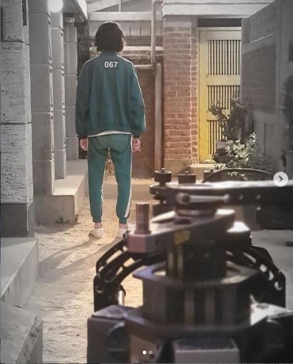 정호연X이유미, '오징어 게임' 비하인드컷 공개...박규영 귀엽고 슬프다[TEN★]