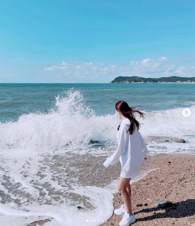 '박성광♥' 이솔이, 닭살부부의 태안 당일치기...오감 만족[TEN★]