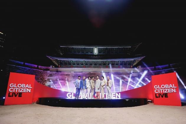 방탄소년단, '2021 글로벌 시티즌 라이브' 오프닝…숭례문 배경으로 펼친 'Permission to Dance'[공식]