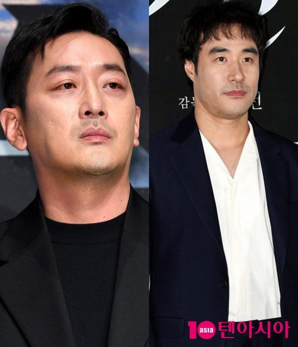 배우 하정우(왼쪽), 배성우 / 사진=텐아시아DB