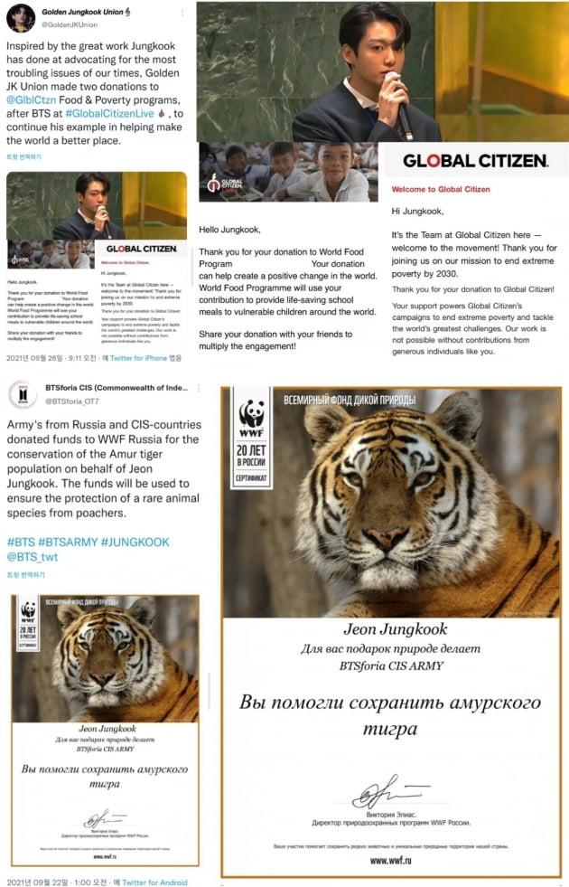 방탄소년단 정국 해외 팬덤, 국제 빈곤 퇴치 단체 기부...'선한 영향력' 전파