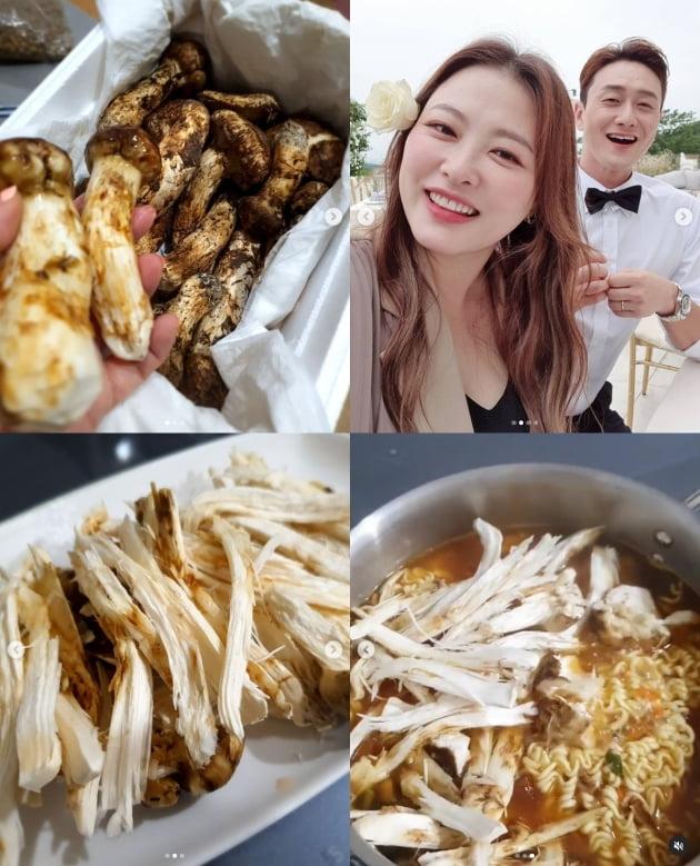 '김원효♥'심진화, kg 100만원 송이 버섯 선물 받다...송이라면 부터[TEN★]