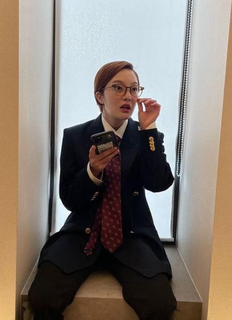 '차현우♥' 황보라 꾸러기 매력, '아빠 양복핏'도 찰떡 [TEN★]