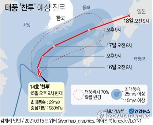 [내일날씨] 서울 제외 전국 대부분 비…오후까지 태풍 영향