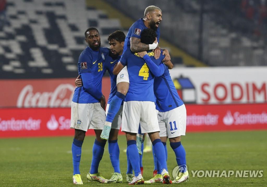 브라질, 칠레 1-0 제압…월드컵 남미예선 7연승 선두 독주