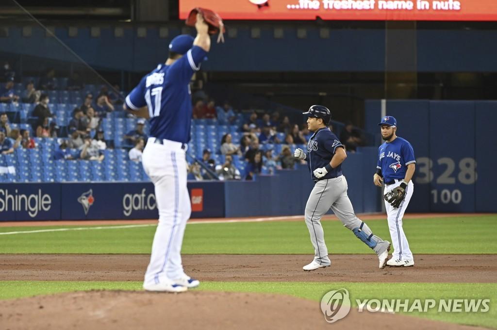 MLB 최지만, 시즌 10호 결승 홈런으로 토론토 울렸다(종합)