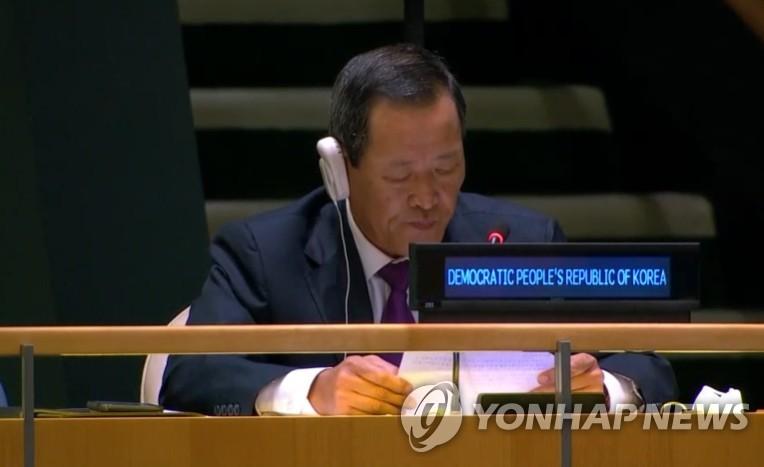 북한, 올해 유엔총회도 김성 주유엔대사 연설…남북 접촉 힘들어