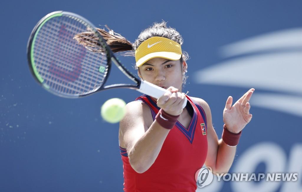 19세 '윔블던 스타' 라두카누, US오픈 테니스 3회전 진출
