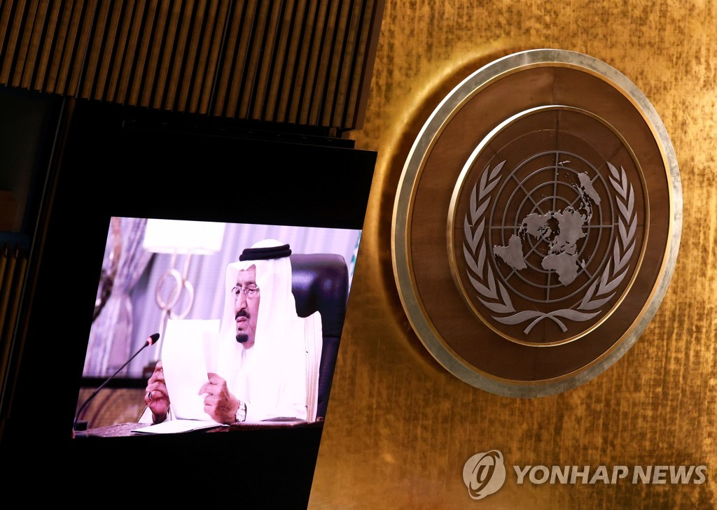 """사우디 국왕 """"이란 핵무기 막기 위한 국제사회 노력 지지"""""""
