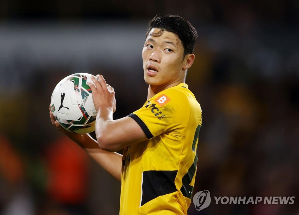 '황소' 황희찬 선발 데뷔전서 힘자랑…울브스 최고 평점