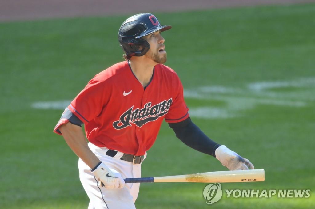 클리블랜드 브래들리 짐머, 친형 상대로 홈런…MLB 역대 4번째(종합)