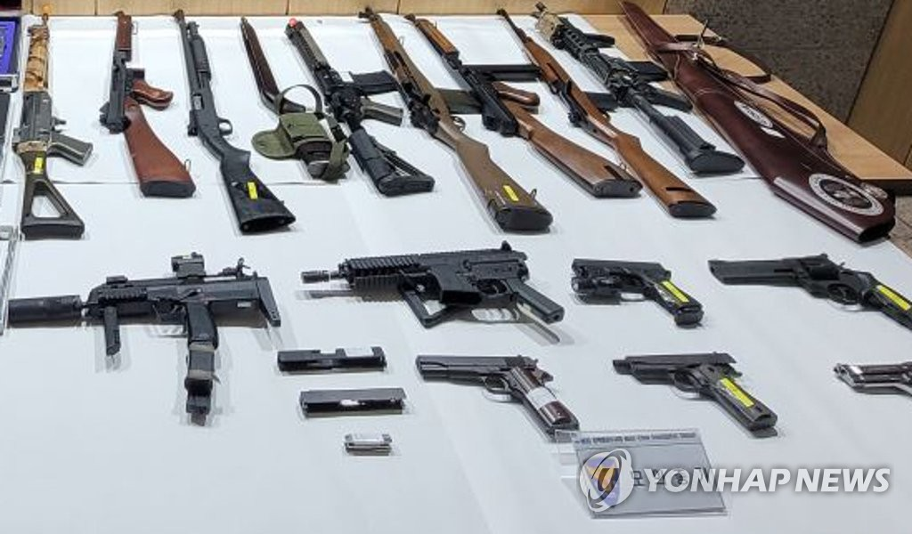 """3년 6개월간 불법총기 138건 적발…""""범죄악용 가능성"""""""