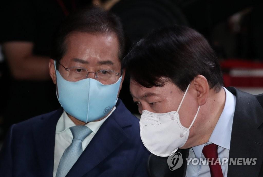 윤석열-홍준표 '용쟁호투' 양상…흥행 기대 속 공멸 우려도