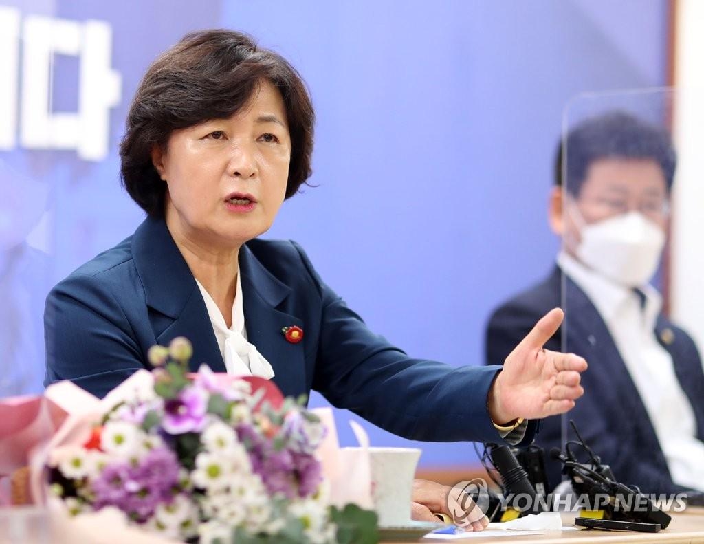 """추미애 """"반 이재명 네거티브에 빠진 경선 민주당답지 않아"""""""