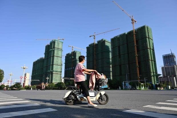 중국 헝다 그룹의 아파트 건설 현장 . / 사진=연합뉴스