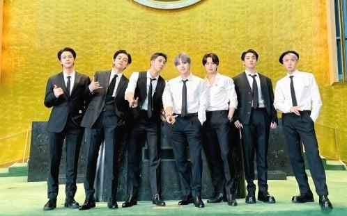 유엔 총회장에 선 BTS /사진=연합뉴스