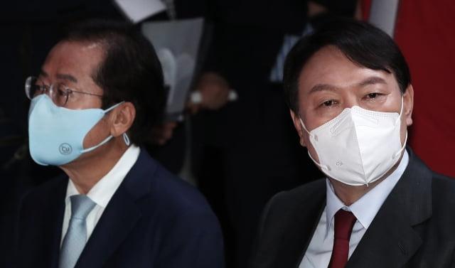 홍준표 국민의힘 의원, 윤석열 전 검찰총장. / 사진=뉴스1