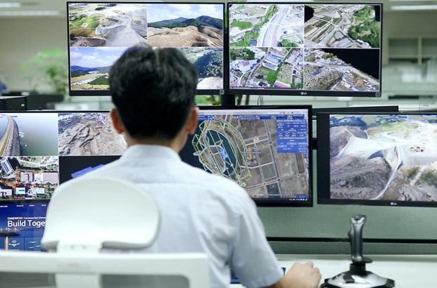사진설명 : 대우건설 건설산업용 드론관제시스템