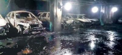 '벤츠 100대' 타버렸다…'주차장 화재' 끔찍