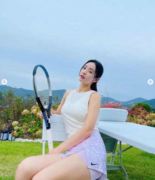 홍수아, 골프→테니스 여신 등극…'넘사벽' 각선미 [TEN★]