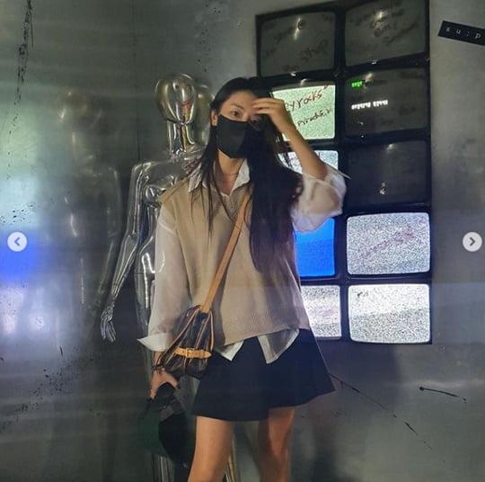 정유미, ♥강타와 성수동 데이트?…마스크 뚫고 나오는 예쁨 [TEN★]