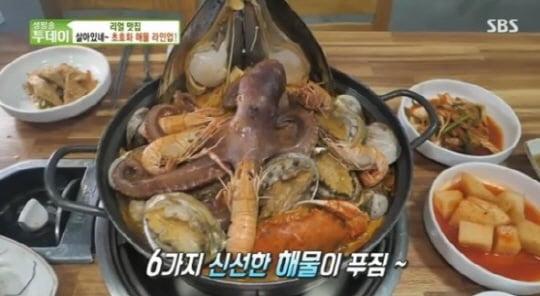 해물감자탕, 6가지 해물과 튼실한 돼지 등뼈를 넣어 얼큰시원한 맛('생방송투데이')