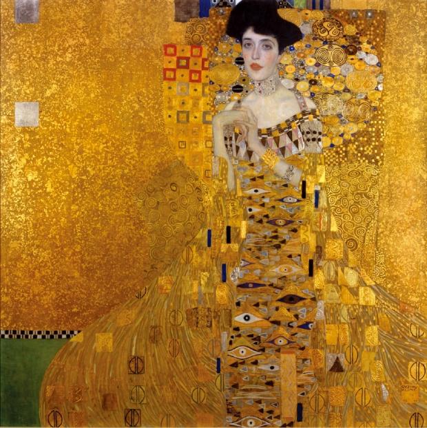 구스타프 클림트, '아델레 블로흐 바우어의 초상(Portrait of Adele Bloch-Bauer I)'. 1907.