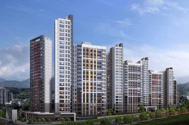 경기 가평 힐스테이트 가평 더뉴클래스 투시도. 출처: 현대건설