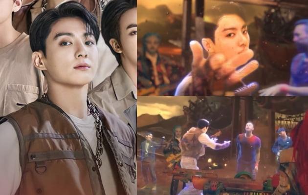방탄소년단 정국 'My Universe' MV SF 영화 속 주인공 아우라..'크리스 마틴'과 환상 호흡