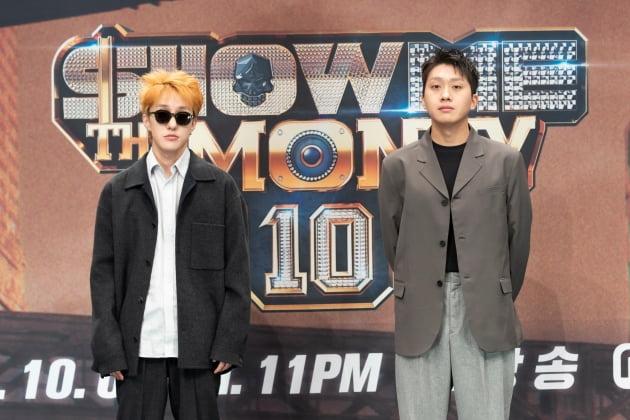 '쇼미더머니10' 자이언티(왼쪽)와 슬롬 / 사진=Mnet 제공