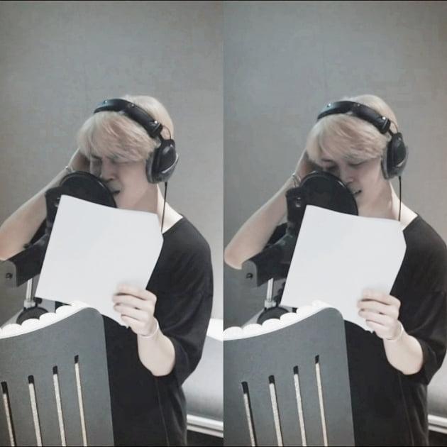 방탄소년단 지민, BTSX콜드플레이 '2초 킬링' 레전드…우주 담긴 '마법의 목소리'