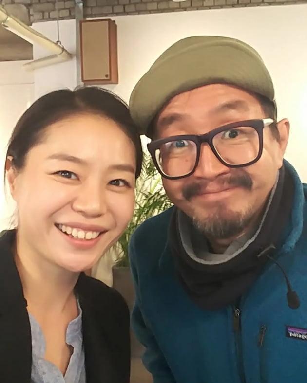 배우 김비비(왼쪽)와 고 남문철/ 사진=김비비 인스타그램