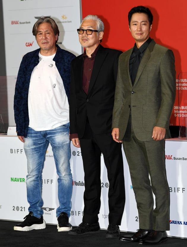 영화 '행복의 나라로' 최민식, 임상수, 박해일./ 사진=조준원 기자