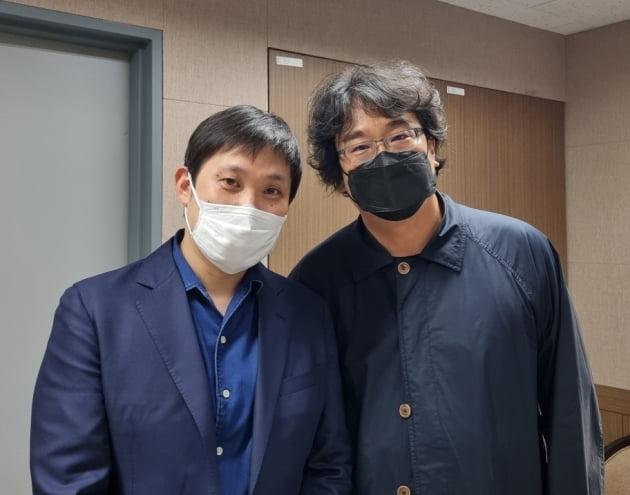 하마구치 류스케 감독-봉준호 감독./ 사진=영화사 조아