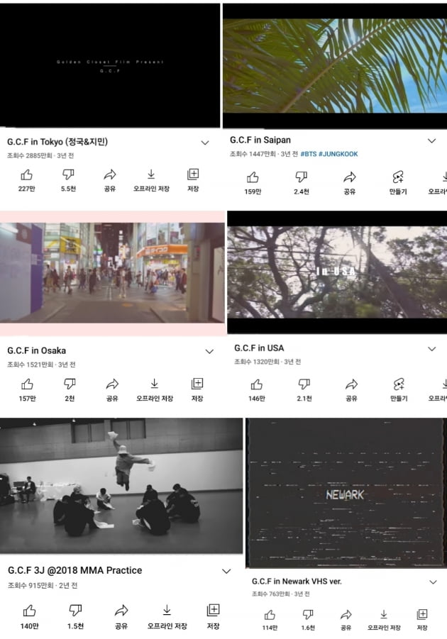 방탄소년단 정국, 'G.C.F in Helsinki' 영상 1200만뷰→G.C.F 총 1억뷰 돌파