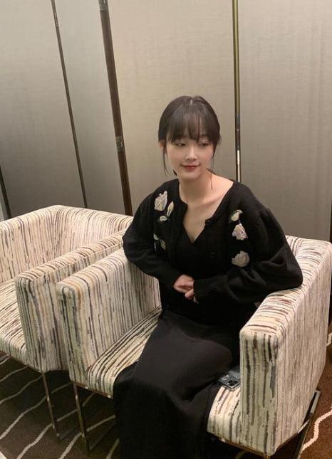 '오징어 게임' 이유미, 240번 체육복 벗고 '여배우 드레스' [TEN★]