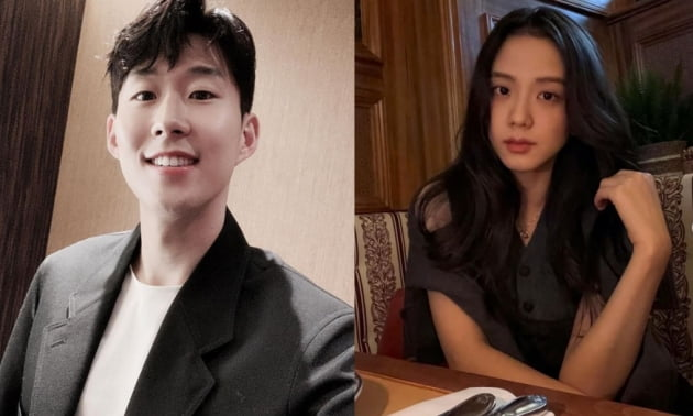 축구선수 손흥민(왼쪽)과 블랙핑크 지수/ 사진=인스타그램 캡처