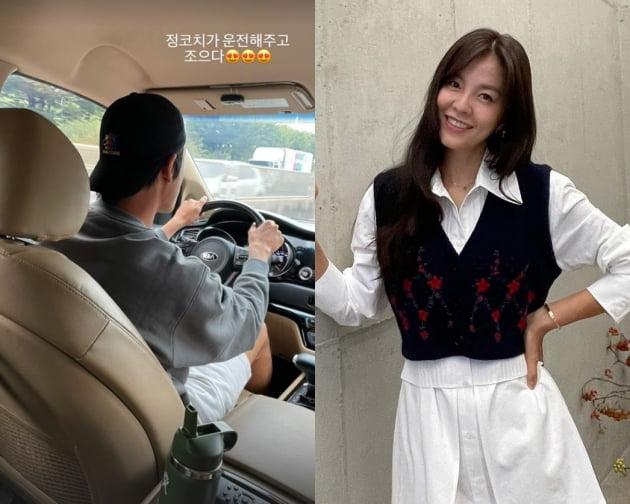 """'애셋맘' 김성은, 넷째 의욕 부르는 ♥정조국 운전 뒷모습 """"좋다"""" [TEN★]"""