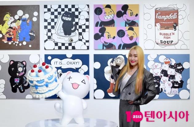[TEN 포토] 낸시랭 '3년만에 '버블코코' 개인전 개최'