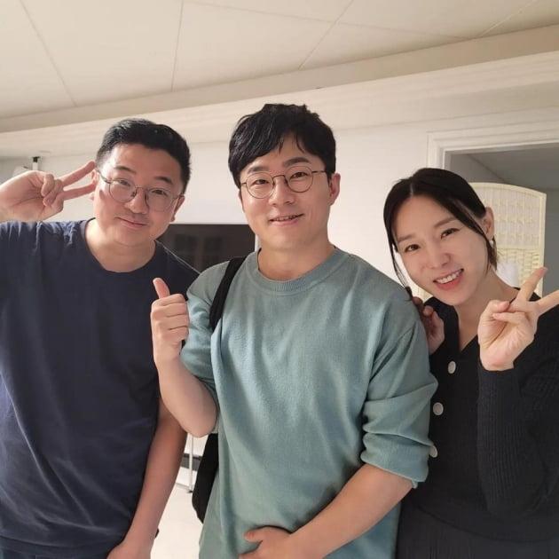 가수 이지혜(오른쪽부터), 유튜버 슈카, 문재완/ 사진=이지혜 인스타그램
