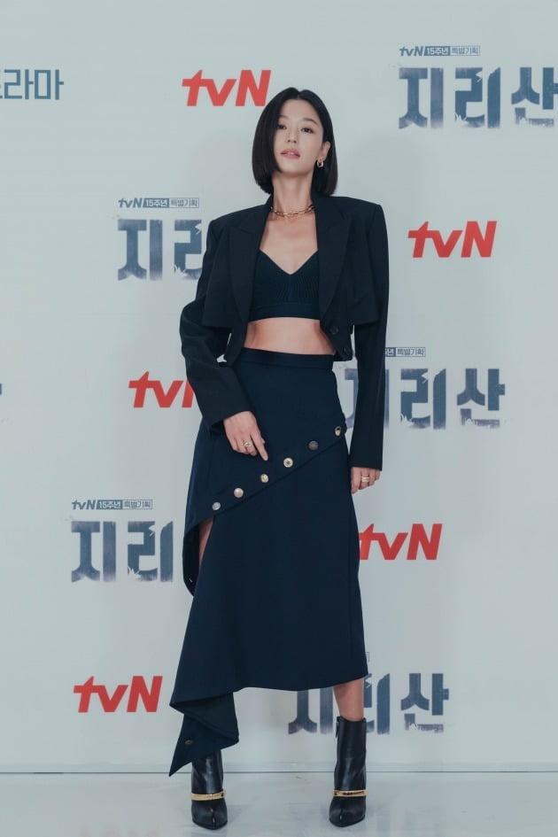 배우 전지현이 13일 오후 온라인 생중계된 tvN 새 토일드라마 '지리산' 제작발표회에 참석했다. /사진제공=tvN