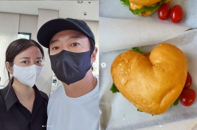 """'이수근♥' 박지연, """"아침부터 잔소리 한 바가지""""라도 하트버거에 담은 애정 [TEN★]"""